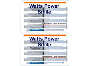 Watts Power WP80+2 Professional 35%  Dual Action Surface & Deep Stain Teeth Whitening Gels - Huge 10ml Gels Plus NEW Enamel Booster Gel - Kosher Certified USA