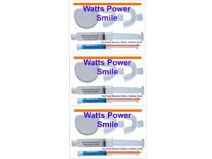 Watts Power WP35%-3Pack 3 Pack - Complete Professional 35% Dual Action Surface & Deep Stain Teeth Whitening Kits with NEW FCP Enamel Booster Gels by Watts Power White - Kosher Certified USA