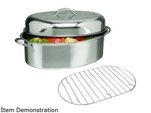 "Gibson Home 64207.02 16"" Oval Roaster w Lid Rack"