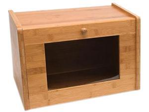 Lipper 8847 Bamboo Bread Box W/ Tempered Glass Window Door