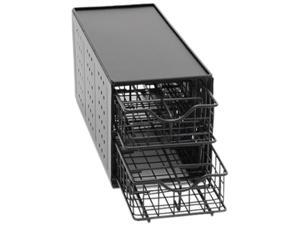 Lipper 8664 Black Two Tier Single cup Drawer Stand
