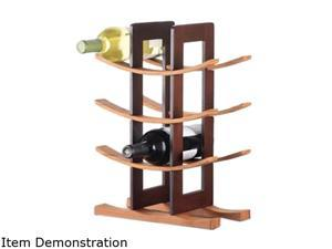 Anchor Hocking 98617 Bamboo Wine Rack w/ Espresso Accents