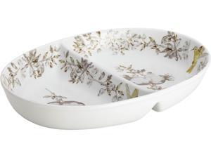 BONJOUR  50912  Dinnerware Fruitful Nectar Porcelain Stoneware 11-Inch Divided Dish