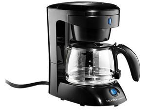 andis 69050 Black Four-Cup Coffee Maker (White with Glass Carafe)