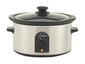 West Bend 84384 Stainless Steel Oval Crockery Cooker