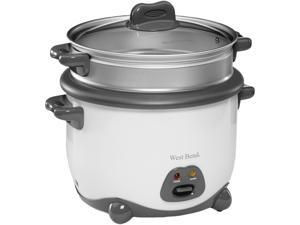 West Bend 88010 White 10 Cup Rice Cooker
