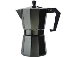 Primula PEBK-3306 Aluminum 6 Cup Stovetop Espresso Maker - Black Black