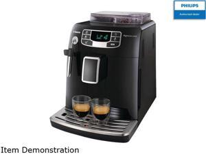 Philips Saeco HD8751/47 Intelia Automatic espresso machine, Classic Milk Frother, Black Black