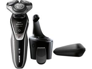 Philips Norelco Electric Shaver 5700 Wet & Dry, S5370/84, with Turbomode and Sma