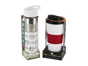 SmartPlanet OCIE5 Peace Love Eco Hydration Cup and Bottle