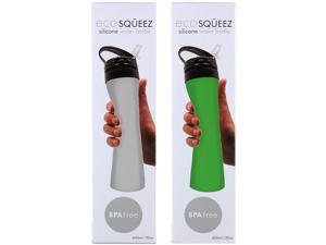 Smart Planet EC-94OCI Eco SQUEEZ Silicone Water Bottle 2 Pack (Green / Frost)