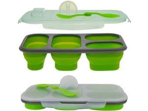 Smart Planet PP1LPB 4 Compartment Collapsible Meal Kit