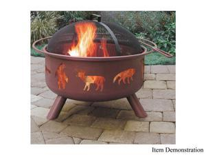 Landmann 28337 Big Sky Fire Pit, Wildlife - Georgia Clay