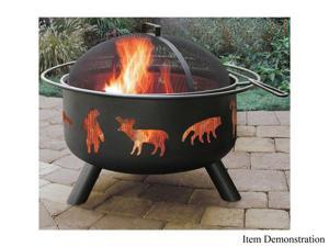 Landmann 28347 Big Sky Fire Pit - Wildlife - Black