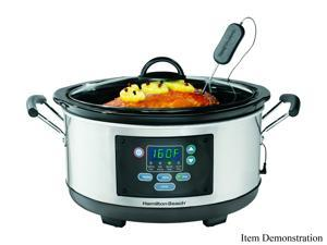 Hamilton Beach 33966 Silver Set 'n Forget Programmable Slow Cooker