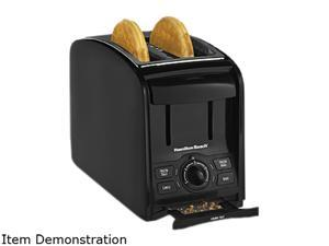 Hamilton Beach 2 Slice Cool Touch Toaster, Black Stainless, 22121