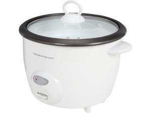 Hamilton Beach 37532 White 10 Cups (Uncooked)/20 Cups (Cooked) Rice Cooker