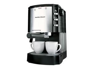 Hamilton Beach 40729 Cappuccino Plus Espresso Maker Silver/Black