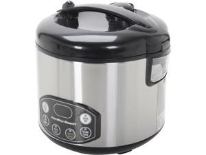 Hamilton Beach 37536 Black/Stainless Steel Digital Simplicity Deluxe Rice Cooker/Steamer