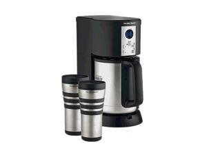 Hamilton Beach 45237 Black/Steel Stay or Go Deluxe Thermal Coffeemaker