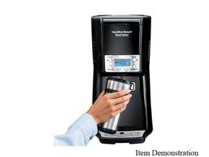 Hamilton Beach 48463 Black/Steel BrewStation Summit 12 Cup Coffeemaker