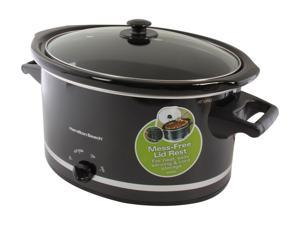 Hamilton Beach 33182 Black 8 Qt. 8 Quart Slow Cooker
