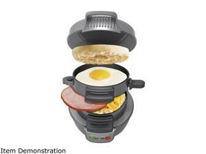 Hamilton Beach 25475 Gray Breakfast Sandwich Maker