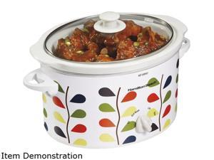 Hamilton Beach 33139 White 3 Qt. 3 Quart Slow Cooker