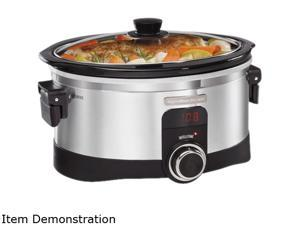 Hamilton Beach 33564 Stainless Steel Intellitime Slow Cooker