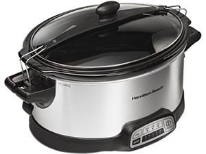 Hamilton Beach 33466 Programmable Stay or Go 6 Quarts Slow Cooker