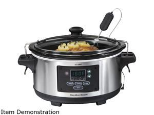 Hamilton Beach 33969A Metallic 6 Qt. 6 Qt Set & Forget Programmable Slow Cooker