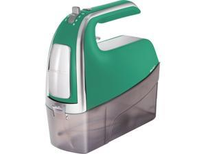 Hamilton Beach 62623 6 Speed Hand Mixer with Pulse, Snap On Case and Attachments Green