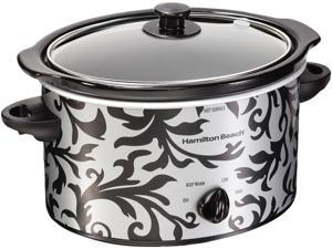 Hamilton Beach  33237  3 Qt.  3 Quart Oval Slow Cooker - Damask Pattern
