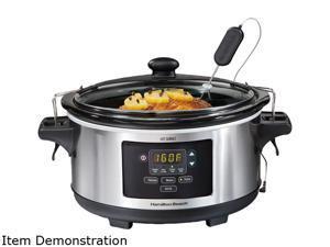 Hamilton Beach  33963  6 Qt.  Set & Forget 6 Quart Programmable Slow Cooker