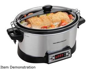 Hamilton Beach  33642  Stainless Steel  Right Size Programmable Slow Cooker