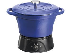 Hamilton Beach 33415 Blue 1.5 Qt. Cast Iron Party Crock, Blue