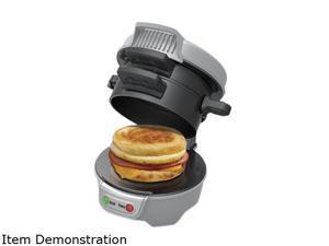 Hamilton Beach 25475 Gray Breakfast Sandwich Maker, Gray
