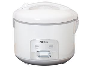 AROMA ARC-928S White 8-Cup Cool-Touch Rice Cooker