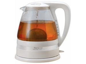 AROMA AWK-161 White Clar-i-Tea Electric Water Kettle & Tea Brewer