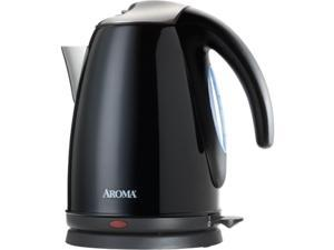 AROMA AWK-270B Black 7-Cup Electric Water Kettle