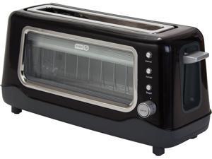 Storebound DVTS501BK Black Dash Clear View Toaster, Window, 2 Slice Long Slot