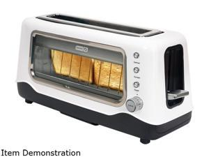 Storebound DVTS501WH White Dash Clear View Toaster, Window, 2 Slice Long Slot