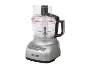 KitchenAid KFP0922CU Contour Silver 9-Cup Food Processor with ExactSlice System 3 Speeds