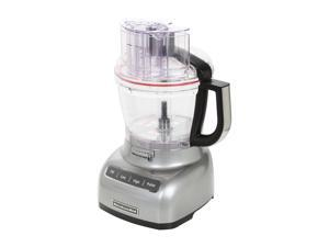 KitchenAid KFP1333CU Contour Silver 13-Cup Food Processor with ExactSlice System 3 Speeds