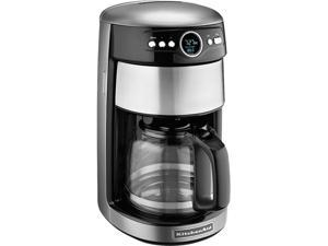 KitchenAid KCM1402CU Contour Silver 14 Cup Glass Carafe Coffee Maker