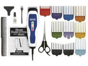 WAHL 9155 100 White Haircut Kit 15PC Color Coded Pro Blades