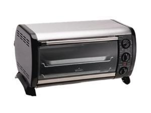 RIVAL T0600 Silver/Black 6 Slice Countertop Oven