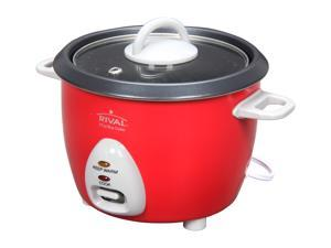 RIVAL RC61 Red 6 Cup Rice Cooker