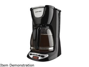 Black & Decker DCM100B Black 12-Cup Programmable Coffeemaker with Glass Carafe