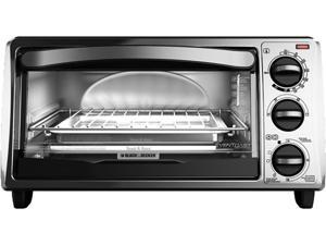 Black & Decker TO1313SBD 4-Slice Toaster Oven, Silver/Black